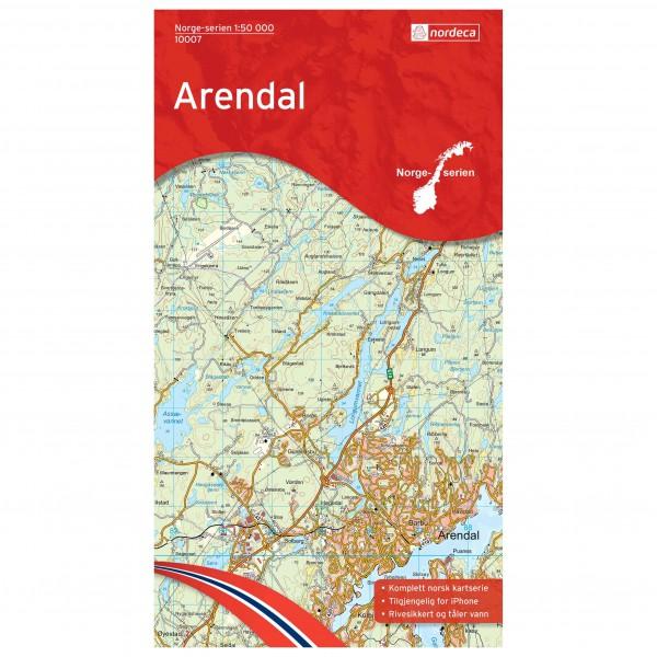 Nordeca - Wander-Outdoorkarte: Arendal 1/50 - Turkart