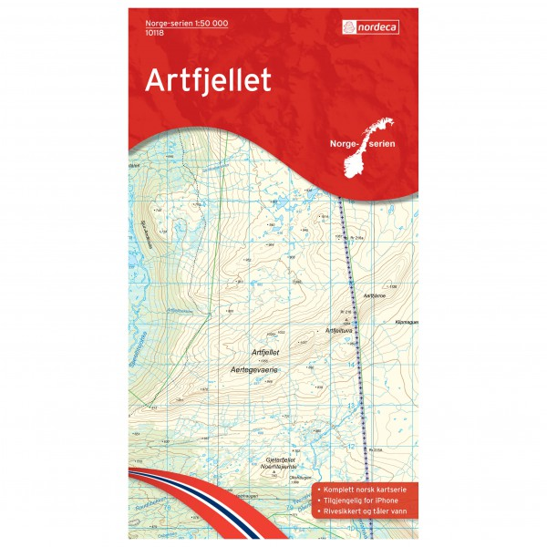 Nordeca - Wander-Outdoorkarte: Artfjellet 1/50 - Hiking map