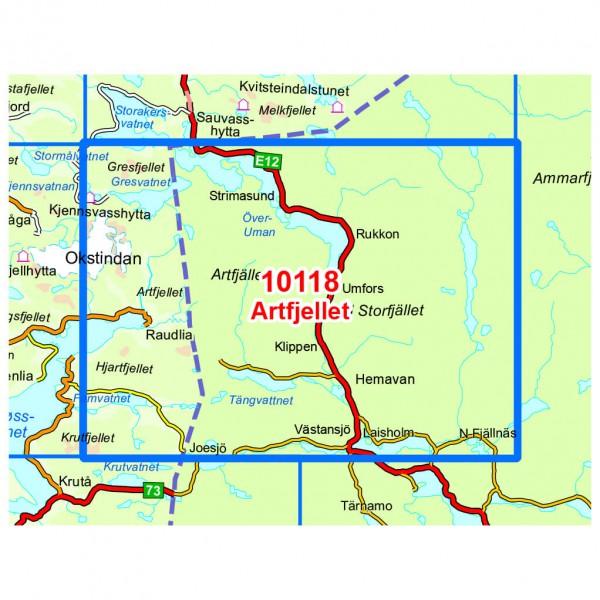 Wander-Outdoorkarte: Artfjellet 1/50 - Hiking map