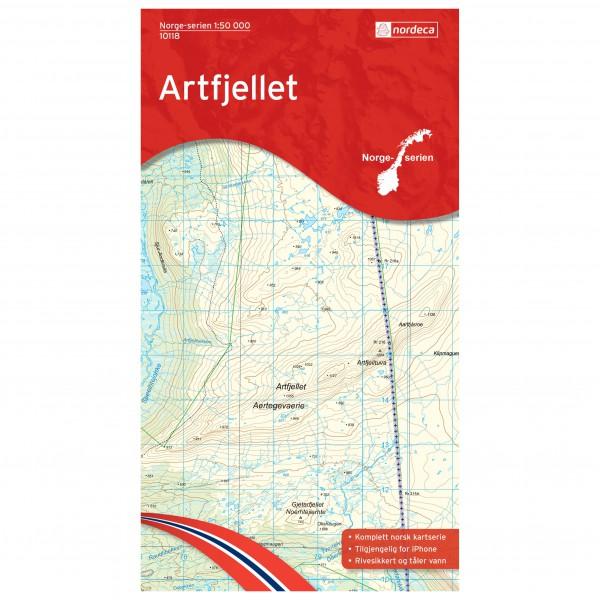 Nordeca - Wander-Outdoorkarte: Artfjellet 1/50 - Vaelluskartat