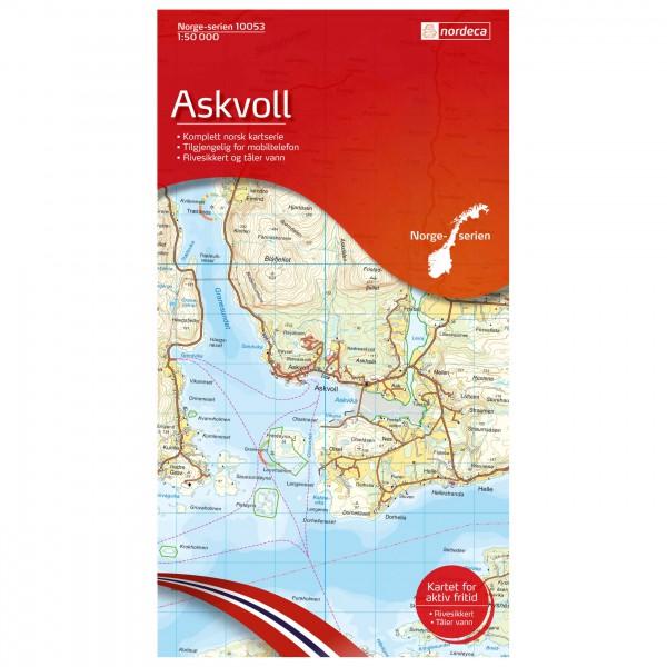 Nordeca - Wander-Outdoorkarte: Askvoll 1/50 - Vandringskartor