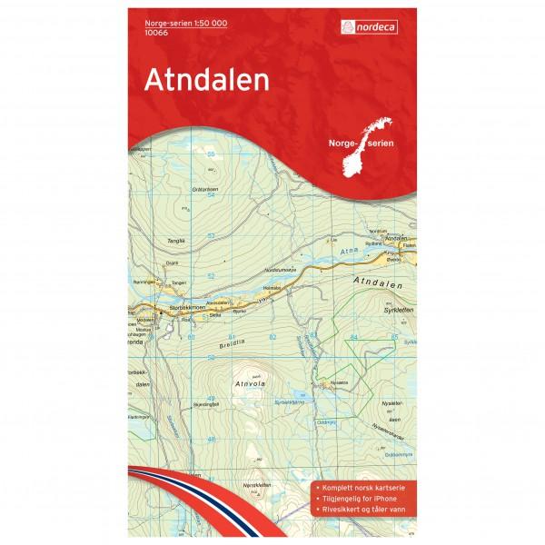 Nordeca - Wander-Outdoorkarte: Atndalen 1/50 - Turkart