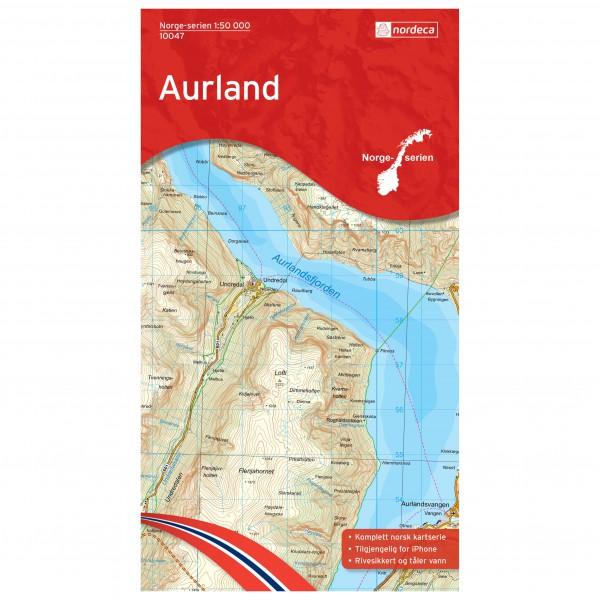 Nordeca - Wander-Outdoorkarte: Aurland 1/50 - Wandelkaart