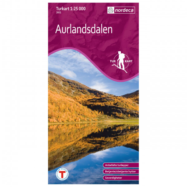 Nordeca - Wander-Outdoorkarte: Aurlandsdalen 1/25 - Vaelluskartat