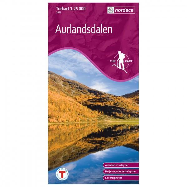 Nordeca - Wander-Outdoorkarte: Aurlandsdalen 1/25 - Hiking map