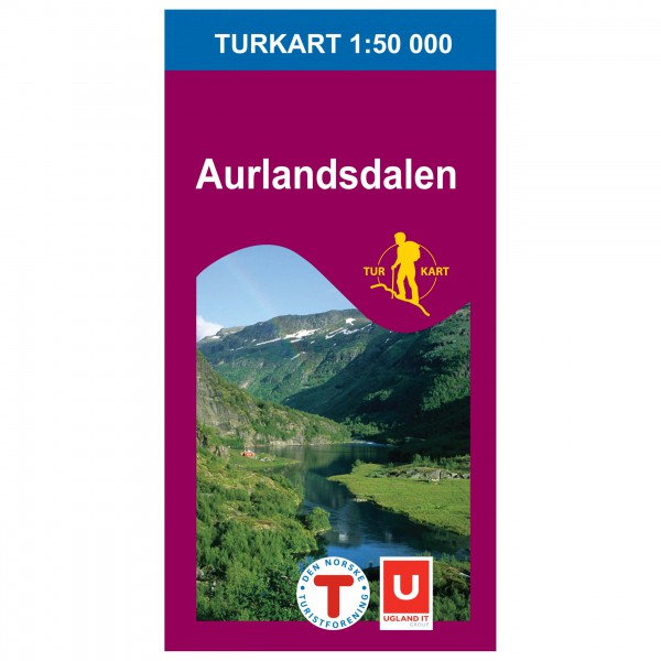 Nordeca - Wander-Outdoorkarte: Aurlandsdalen 1/50 - Hiking map