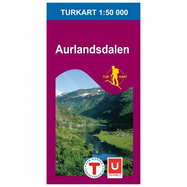 Nordeca - Wander-Outdoorkarte: Aurlandsdalen 1/50 - Wandelkaart