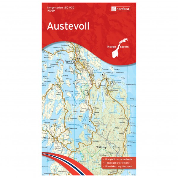 Nordeca - Wander-Outdoorkarte: Austevoll 1/50 - Wandelkaart