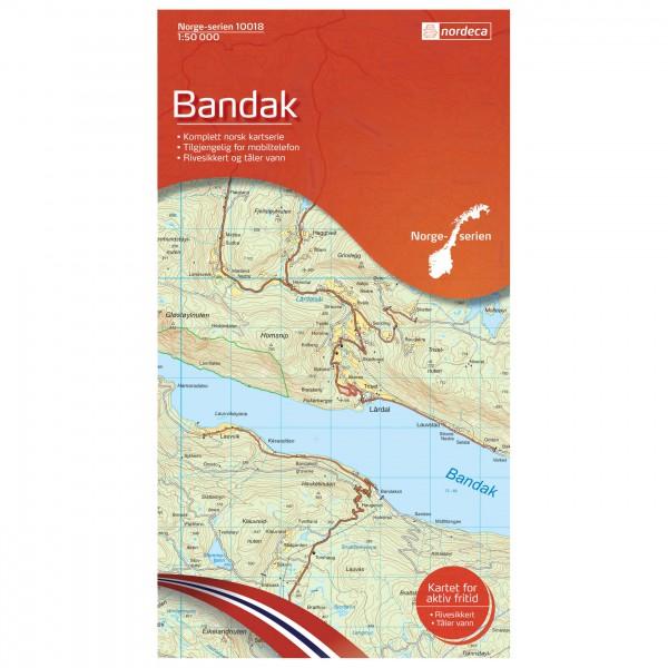 Nordeca - Wander-Outdoorkarte: Bandak 1/50
