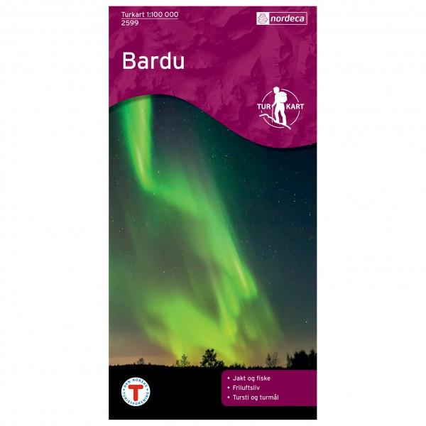Nordeca - Wander-Outdoorkarte: Bardu 1/100 - Wandelkaarten
