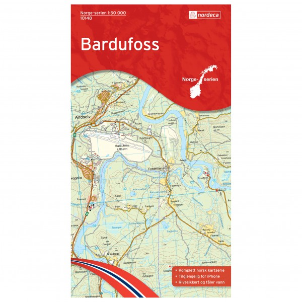 Nordeca - Wander-Outdoorkarte: Bardufoss 1/50 - Hiking map
