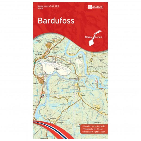 Nordeca - Wander-Outdoorkarte: Bardufoss 1/50 - Vandringskartor