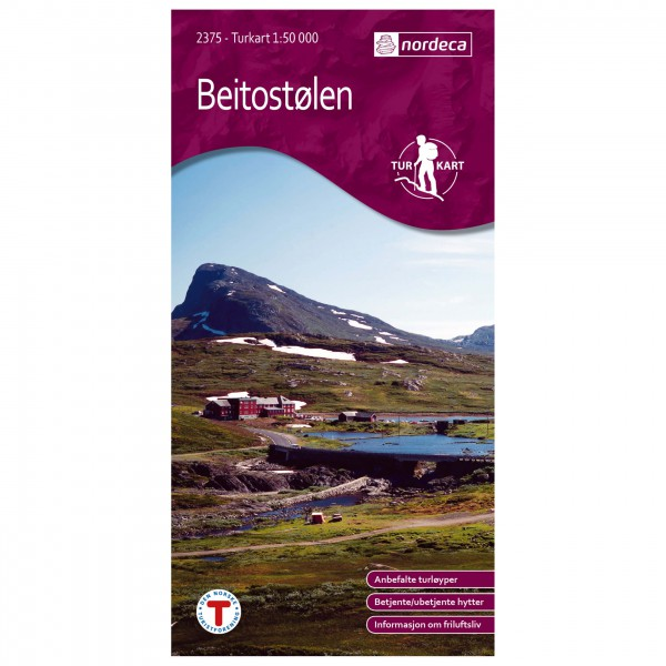 Nordeca - Wander-Outdoorkarte: Beitostølen 1/50 - Wandelkaarten