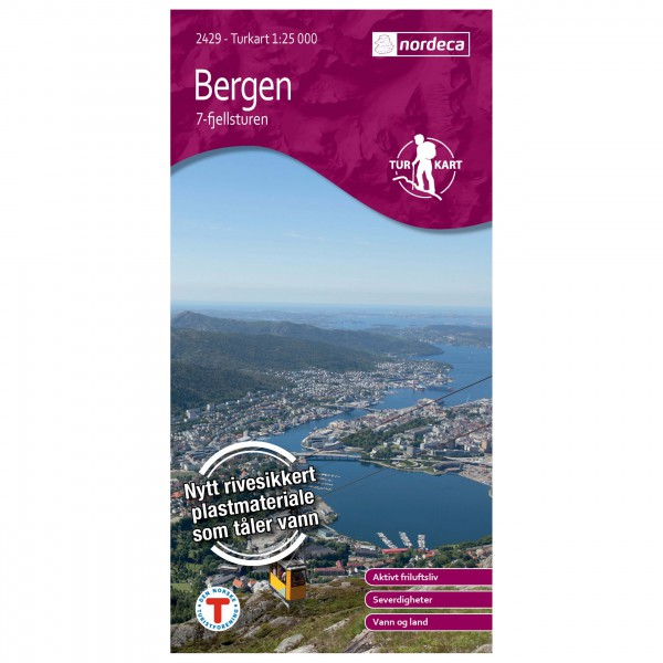 Nordeca - Wander-Outdoorkarte: Bergen - Vandringskartor