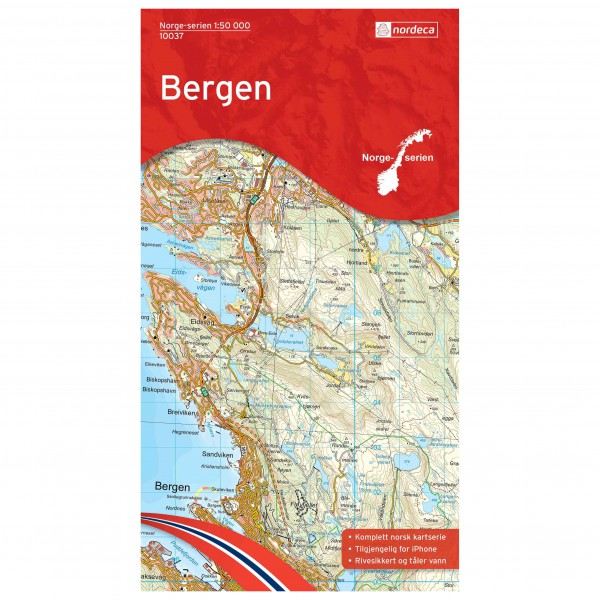 Nordeca - Wander-Outdoorkarte: Bergen 1/50 - Hiking map