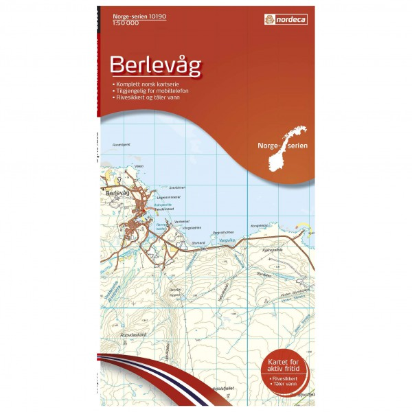 Nordeca - Wander-Outdoorkarte: Berlevag 1/50 - Carte de randonnée