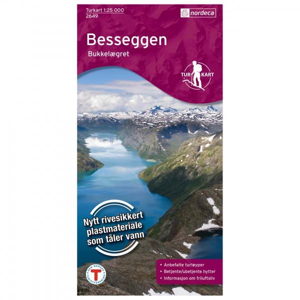 Nordeca - Wander-Outdoorkarte: Besseggen 1/25 - Wandelkaarten