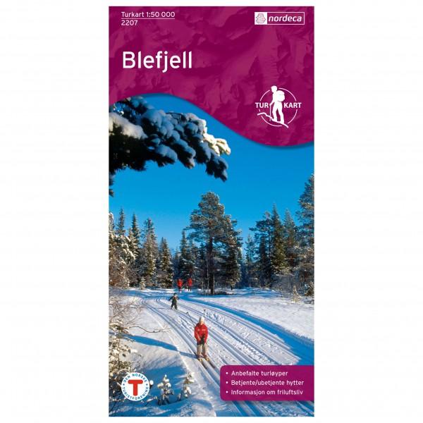 Nordeca - Wander-Outdoorkarte: Blefjell 1/50 - Hiking map