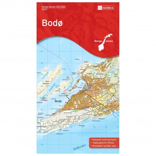 Nordeca - Wander-Outdoorkarte: Bodo 1/50 - Vandringskartor