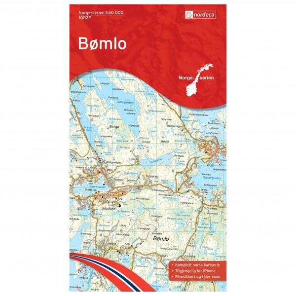 Nordeca - Wander-Outdoorkarte: Bømlo 1/50 - Vaelluskartat