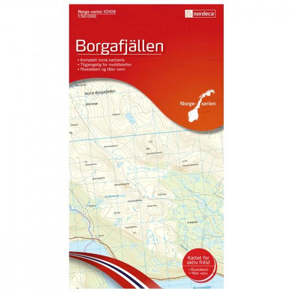 Nordeca - Wander-Outdoorkarte: Borgafjällen 1/50 - Wanderkarte