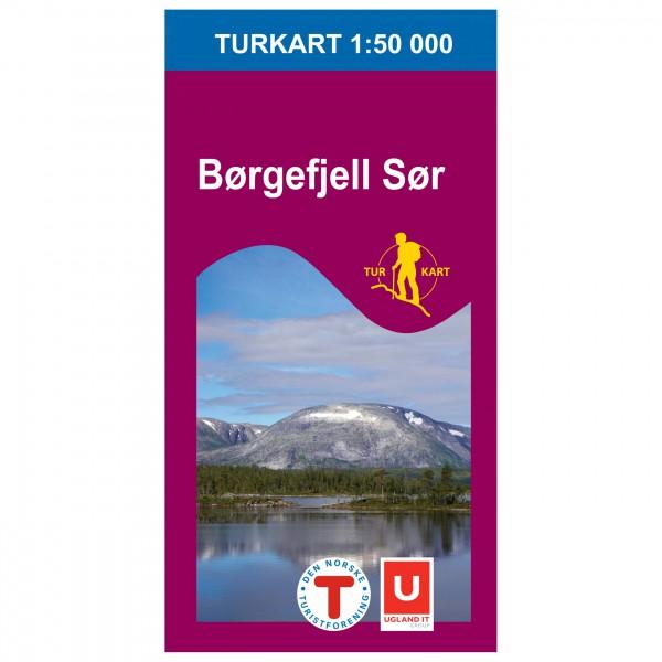 Nordeca - Wander-Outdoorkarte: Børgefjell Sør 1/50 - Wandelkaarten