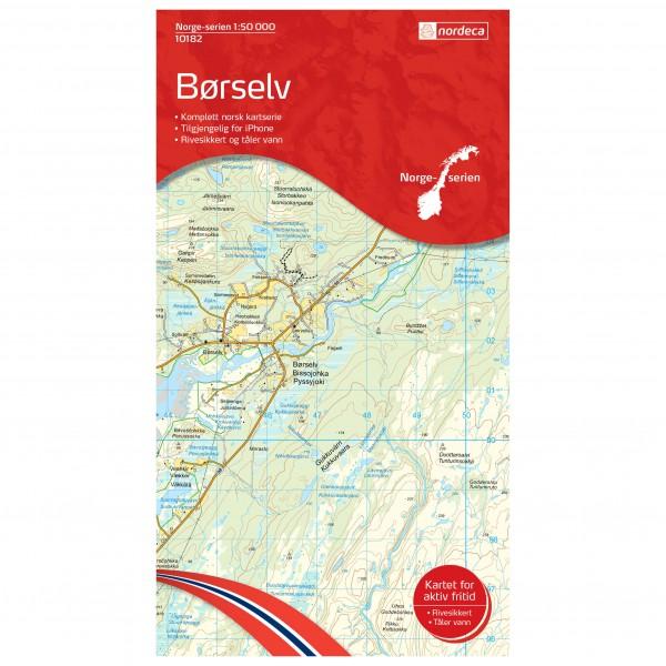 Nordeca - Wander-Outdoorkarte: Borselv 1/50 - Vandrekort