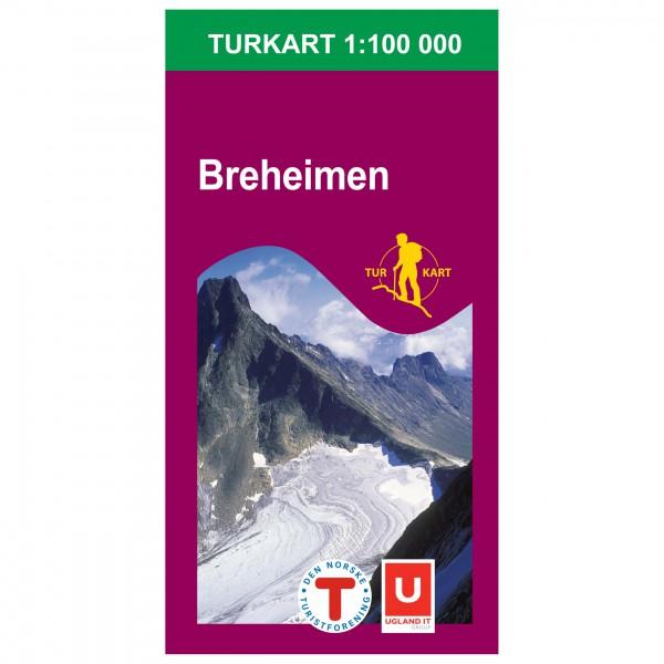 Nordeca - Wander-Outdoorkarte: Breheimen 1/100 - Vandrekort