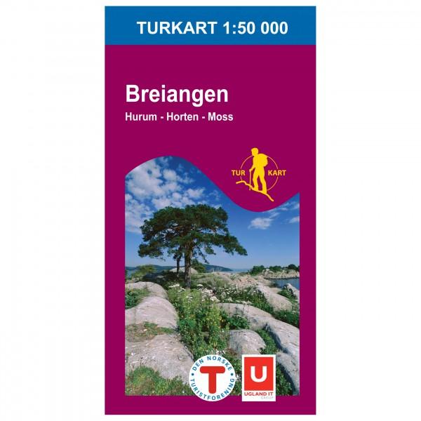 Nordeca - Wander-Outdoorkarte: Breiangen 1/50 - Vaelluskartat