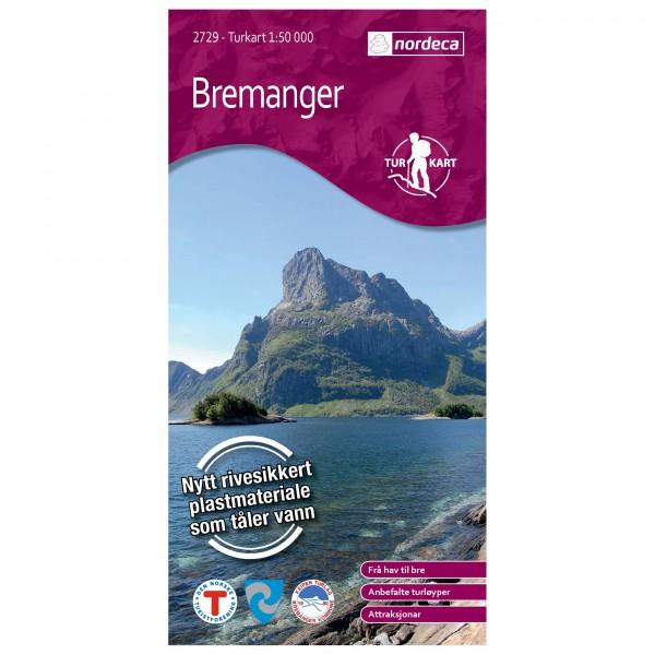 Nordeca - Wander-Outdoorkarte: Bremanger 1/50 - Vandringskartor