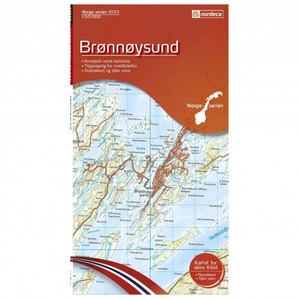 Nordeca - Wander-Outdoorkarte: Bronnoysund 1/50 - Hiking map