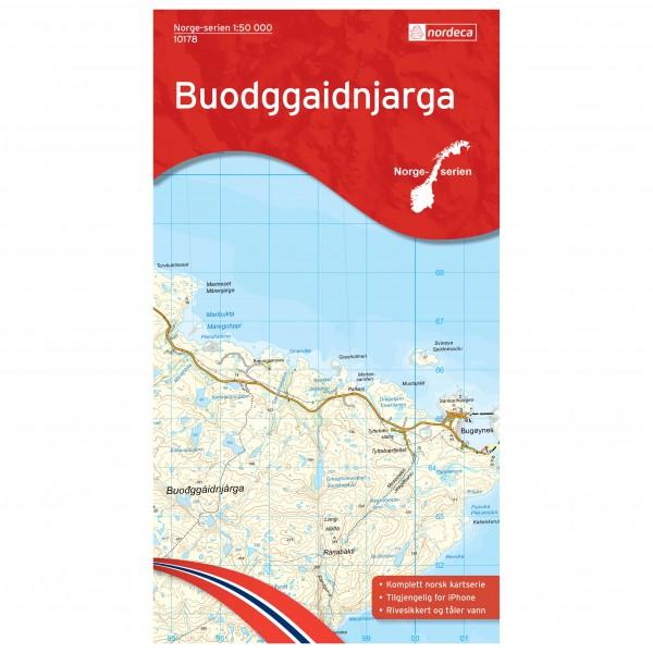 Nordeca - Wander-Outdoorkarte: Buodggaidnjarga 1/50 - Vandringskartor