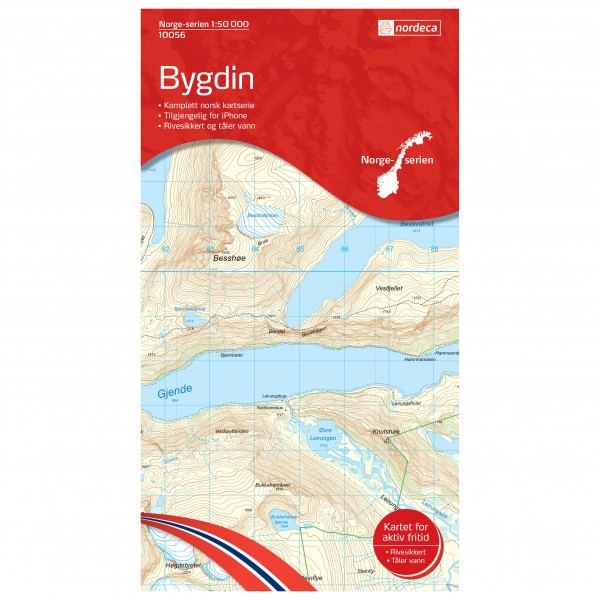 Nordeca - Wander-Outdoorkarte: Bygdin 1/50 - Wanderkarte