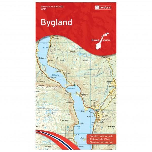 Nordeca - Wander-Outdoorkarte: Bygland 1/50 - Wandelkaarten