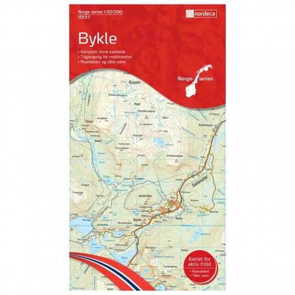 Nordeca - Wander-Outdoorkarte: Bykle 1/50 - Hiking map
