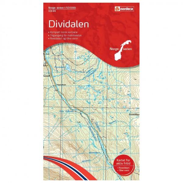 Nordeca - Wander-Outdoorkarte: Dividalen 1/50 - Hiking map