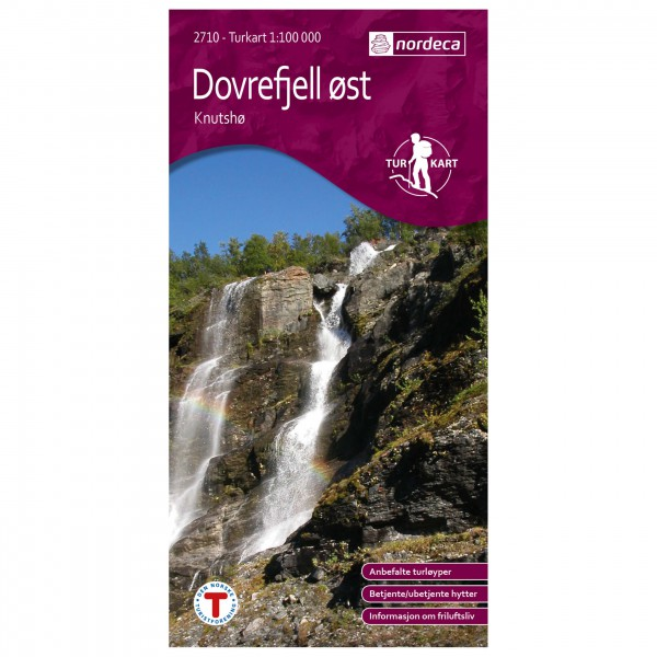 Nordeca - Wander-Outdoorkarte: Dovrefjell Øst Knutshø 1/100 - Hiking map