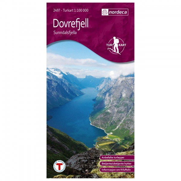 Nordeca - Outdoorkarte: Dovrefjell Vest Sunndalsfjella 1/100 - Wandelkaarten