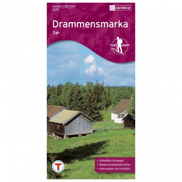 Nordeca - Wander-Outdoorkarte: Drammensmarka Sør 1/50 - Vandrekort