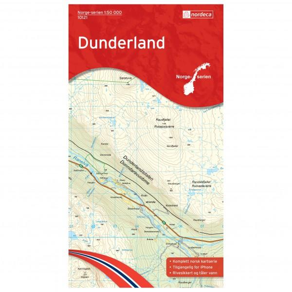 Nordeca - Wander-Outdoorkarte: Dunderland 1/50 - Vaelluskartat