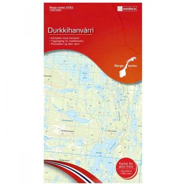 Nordeca - Wander-Outdoorkarte: Durkkihanvarri 1/50 - Vandrekort