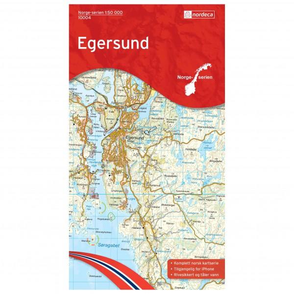 Nordeca - Wander-Outdoorkarte: Egersund 1/50 - Vandringskartor