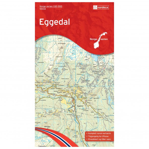 Nordeca - Wander-Outdoorkarte: Eggedal 1/50 - Wanderkarte