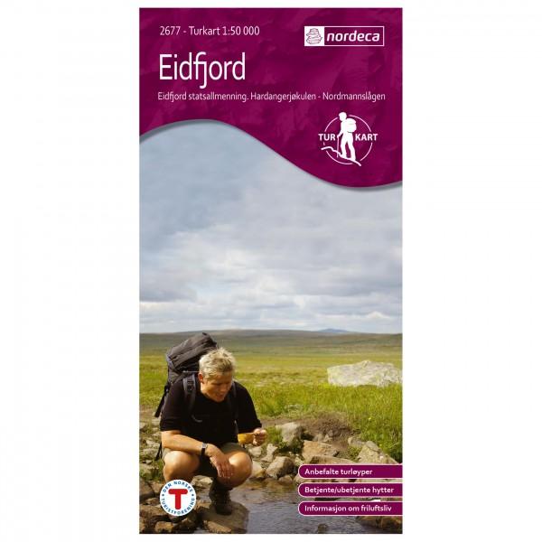 Nordeca - Wander-Outdoorkarte: Eidfjord 1/50 - Wandelkaarten