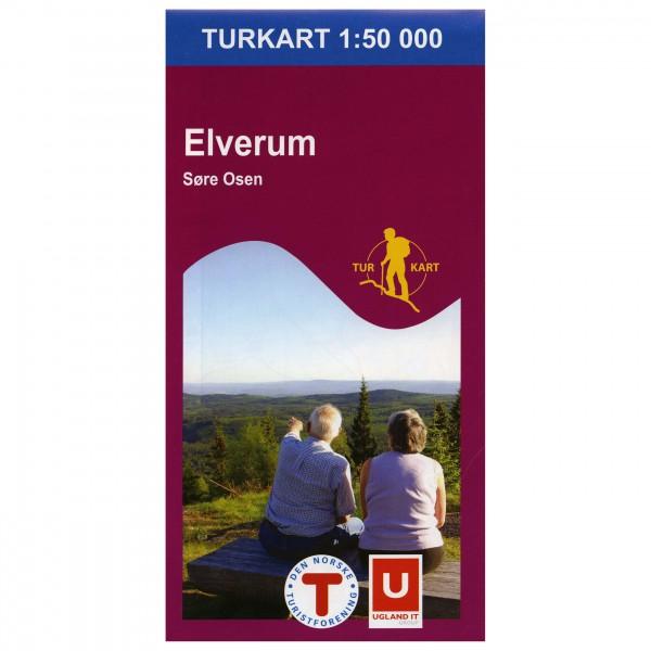 Nordeca - Wander-Outdoorkarte: Elverum 1/50 - Vaelluskartat