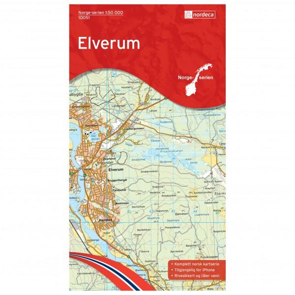 Nordeca - Wander-Outdoorkarte: Elverumv 1/50 - Vandrekort