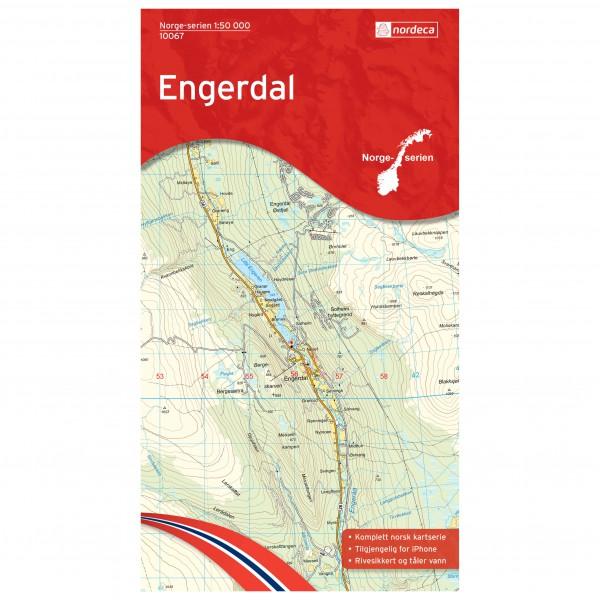 Nordeca - Wander-Outdoorkarte: Engerdal 1/50