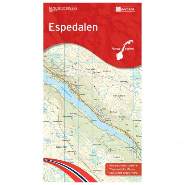 Nordeca - Wander-Outdoorkarte: Espedalen 1/50 - Wandelkaarten