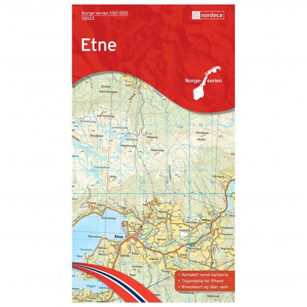 Nordeca - Wander-Outdoorkarte: Etne 1/50 - Hiking map