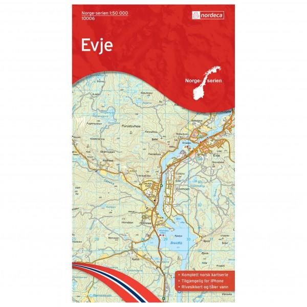 Nordeca - Wander-Outdoorkarte: Evje 1/50 - Vandrekort